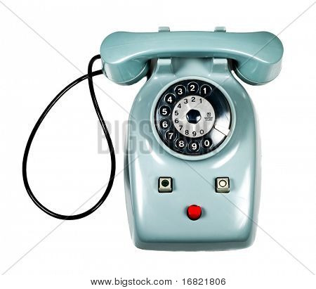 isolated old vintage phone