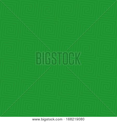 Green Classic meander seamless pattern. Greek key neutral tileable linear vector background.