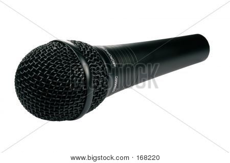 Isolated Black Microphone