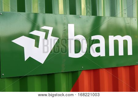 Letters Bam On A Container