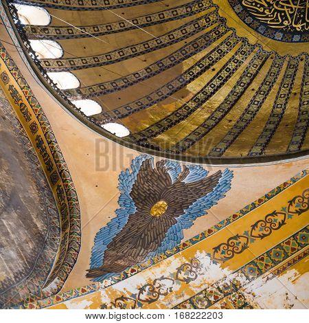 Paintings In Ancient Basilica Hagia Sophia