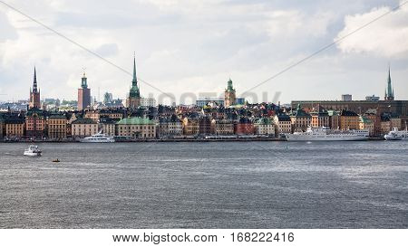 Panorama Of Old Town Of Stockholm City