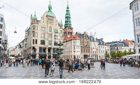 View Of Amagertorv Square In Copenhagen