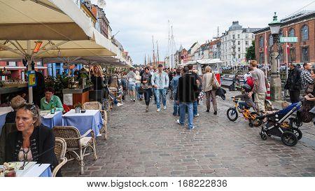 Restaurant In Nyhavn Area In Copenhagen City