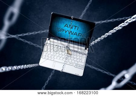 Chained Laptop With