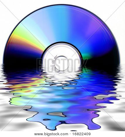 fine abstract image of cdrom