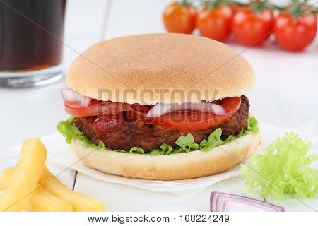 Hamburger Menu Meal Combo Drink