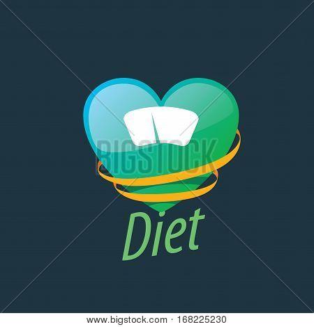 logo design template for diet. Vector illustration of icon
