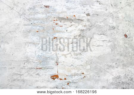Old White Plaster Texture Background. Vintage brick wall
