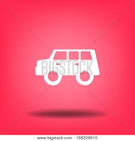 Flat Icon. A car. Hatchback.