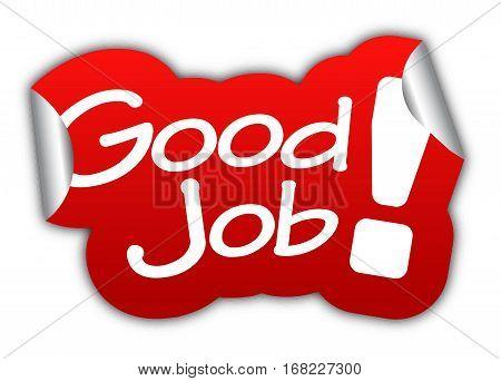 job good job sticker good job red sticker good job red vector sticker good job good job eps10 design good job sign good job