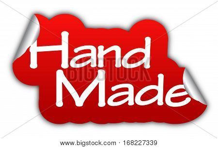 hand made sticker hand made red sticker hand made red vector sticker hand made hand made eps10 design hand made sign hand made