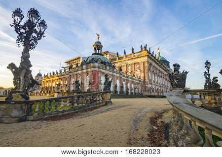 Potsdam, Germany-November 2014:Park Sanssouci,eam of park and palace Potsdam, Germany