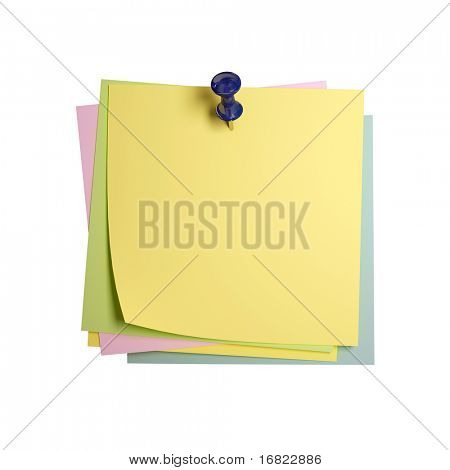 image 3d of classic paper sticker isolated on white