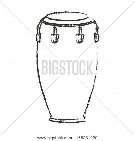 conga drum instrument icon over white background. vector illustration