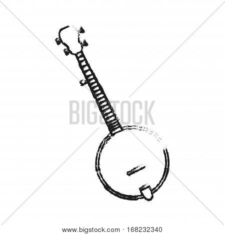banjo instrument icon over white background. vector illustration