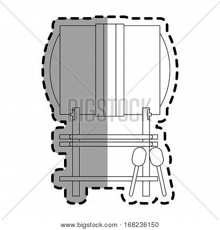 buk drum instrument icon over white background. vector illustration