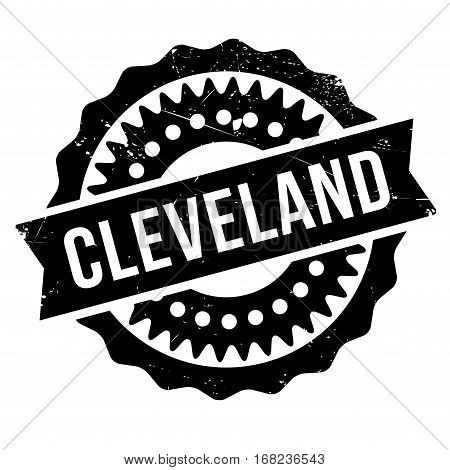 Cleveland stamp. Grunge design with dust scratches. Effects can be easily removed for a clean, crisp look. Color is easily changed.