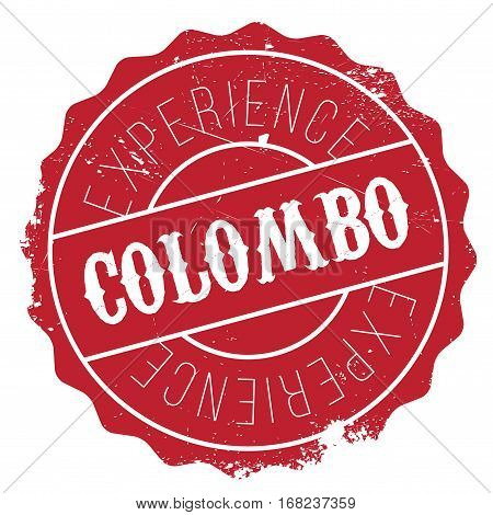Colombo stamp. Grunge design with dust scratches. Effects can be easily removed for a clean, crisp look. Color is easily changed.
