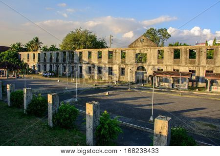 Manila, Philippines - March 7, 2016: The walls of the old city of Intramuros in Manila, Philippines