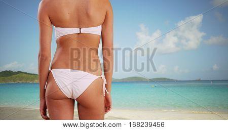 African American Girl Stares Off Into The Hawaiian Ocean