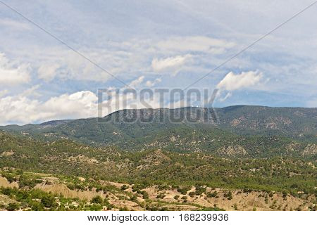 wooded slopes of the Troodos mountain in Cyprus