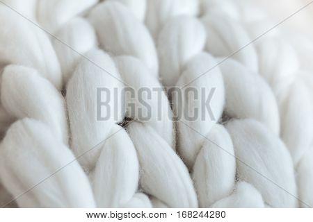 White Knit Giant Plaid