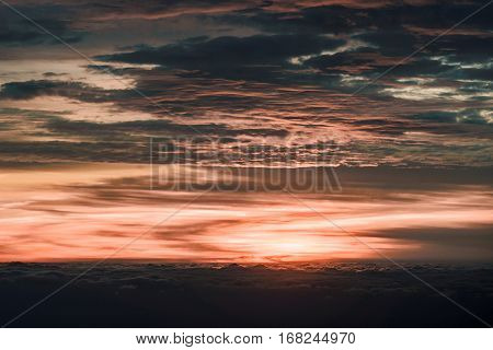 Sunset And Clouds Ai-petri Plateau In Crimea