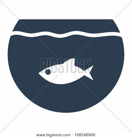 Aquarium, Flat Icon Isolated On White Background