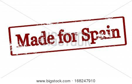 Stamp with text made for Spain inside vector illustration