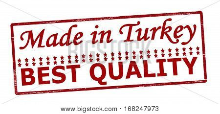 Stamp with text made in Turkey best quality inside vector illustration