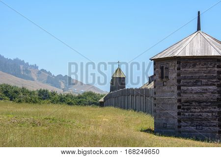Fort Ross state park in California, USA