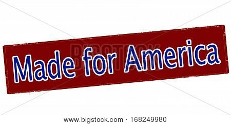 Stamp with text made for America inside vector illustration