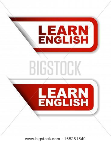 learn english sticker learn english red sticker learn english red vector sticker learn english set stickers learn english design learn english sign learn english learn english eps10