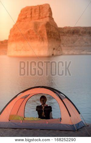 Tent Camping Lone Rock Lake Powell