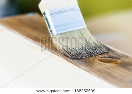 Brush Painting Wooden Texture