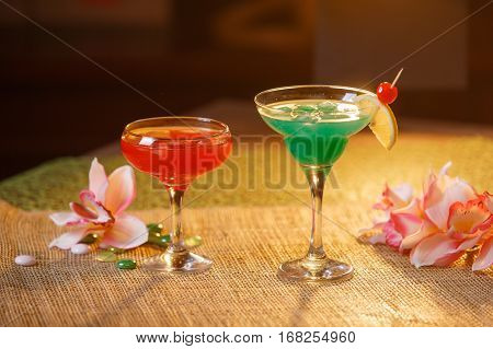Two Glasses Of Non-alcoholic Cocktails