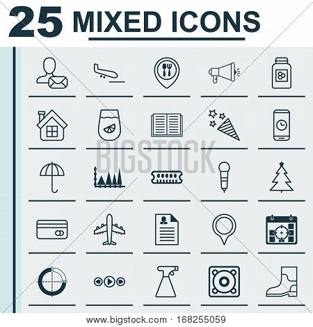 Set Of 25 Universal Editable Icons. Can Be Used For Web, Mobile And App Design. Includes Elements Such As Dynamic Memory, Firecracker, Disjointed Circle Chart And More.