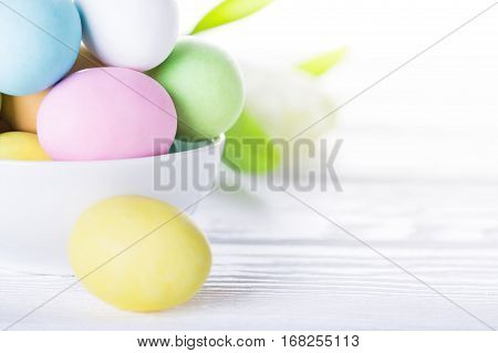 Colorful Easter Eggs. Happy Easter Card