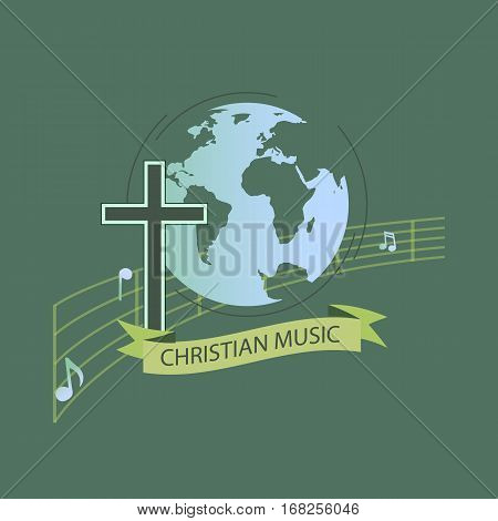 The logo for the world of Christian music. Characters with religious orientation.
