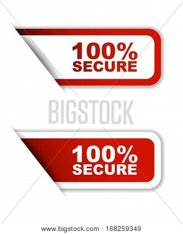 100% secure sticker 100% secure red sticker 100% secure red vector sticker 100% secure set stickers 100% secure design 100% secure sign 100% secure 100% secure eps10