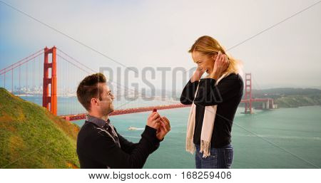 Millennial Boyfriend Proposes To Girlfriend In Front Of The Golden Gate Bridge