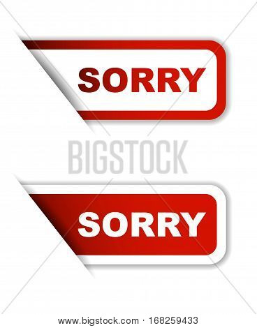 sorry sticker sorry red sticker sorry red vector sticker sorry set stickers sorry design sorry sign sorry sorry eps10