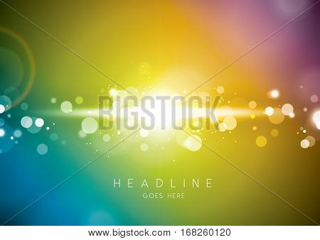 Vector of abstract light element and background