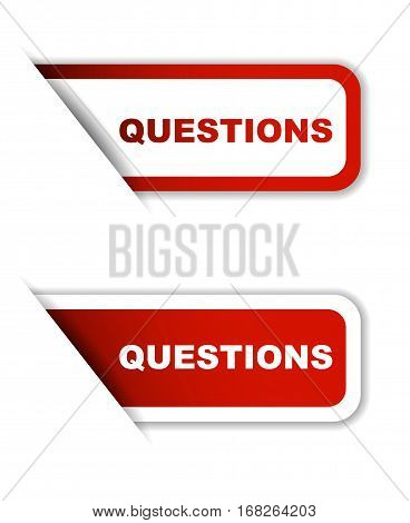 questions sticker questions red sticker questions red vector sticker questions set stickers questions design questions sign questions questions eps10