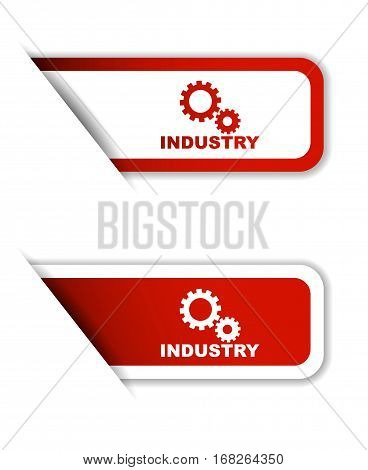 industry sticker industry red sticker industry red vector sticker industry set stickers industry design industry sign industry industry eps10