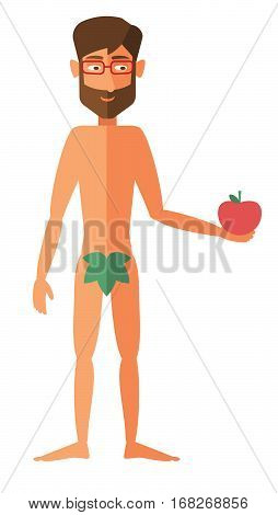 man apple adam - the vector color illustration