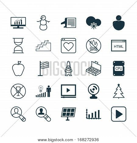 Set Of 25 Universal Editable Icons. Can Be Used For Web, Mobile And App Design. Includes Elements Such As Spectator, Timetable, Alcohol Forbid And More.
