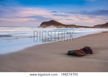 Genoveses beach and sea-Spain-Almeria-Cabo de Gata natural park