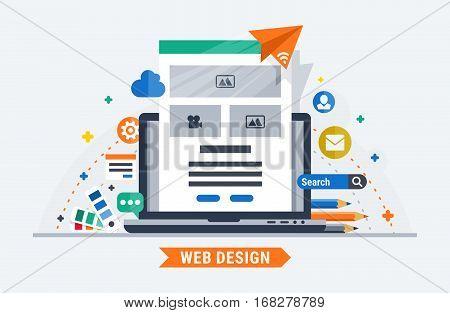 Web design. Flat vector illustration for your site.